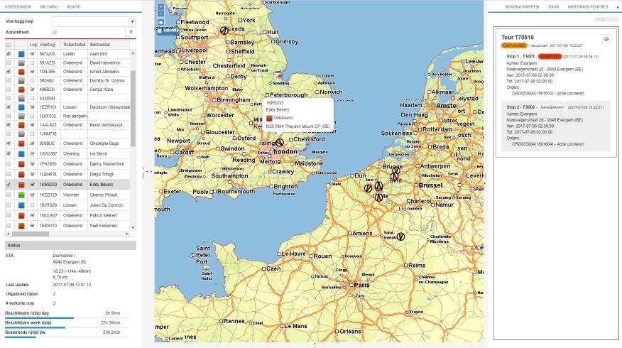 Fleet management map